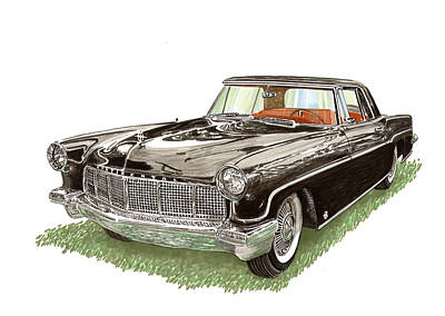 Painting - 1957 Lincoln Continental Mk II by Jack Pumphrey