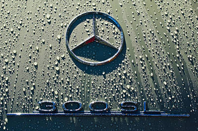 Hoodies Photograph - 1957 Mercedes Benz 300sl Roadster Emblem by Jill Reger