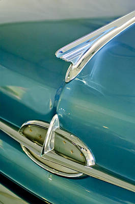 Hoodie Photograph - 1957 Oldsmobile Hood Ornament 5 by Jill Reger