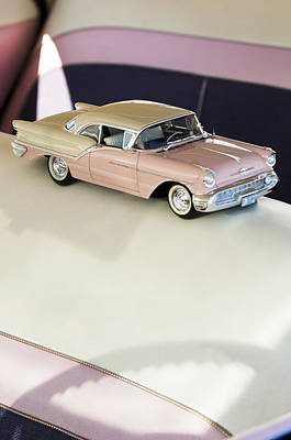 1957 Oldsmobile Super 88 Matchbox Car Art Print by Jill Reger