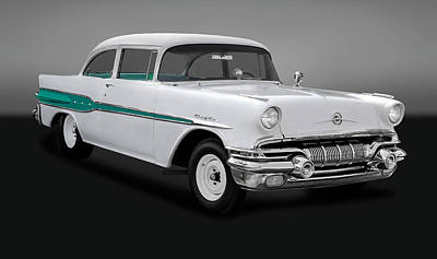 Photograph - 1957 Pontiac Chieftain Drag Car  -  1957pontchiefgry0095 by Frank J Benz