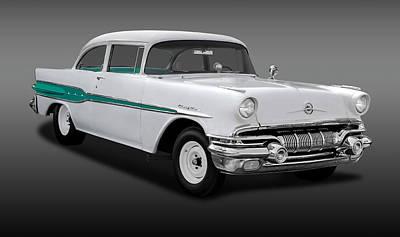 Photograph - 1957 Pontiac Chieftain Drag Car  -  1957pontchieftainfa0095 by Frank J Benz