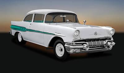 Photograph - 1957 Pontiac Chieftain Drag Car -  1957pontiacchieftain0095 by Frank J Benz