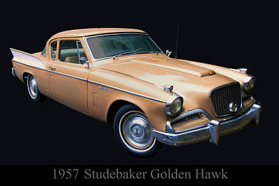 Digital Art - 1957 Studebaker Golden Hawk by Chris Flees