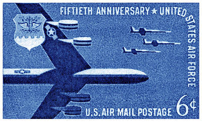 1957 United States Air Force Stamp Art Print