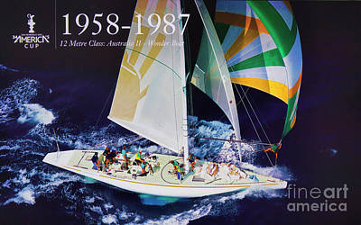 Sausalito Photograph - 1958 - 1987 America's Cup History by Chuck Kuhn