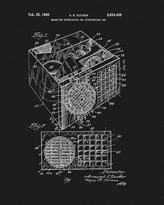 Drawing - 1958 Air Conditioner Patent by Dan Sproul
