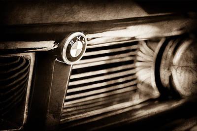 Photograph - 1958 Bmw 3200 Michelottie Vignale Roadster Grille Emblem -2389s by Jill Reger