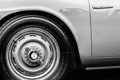 Photograph - 1958 Bmw 507 Series II Roadster Wheel Emblem -2391bw by Jill Reger