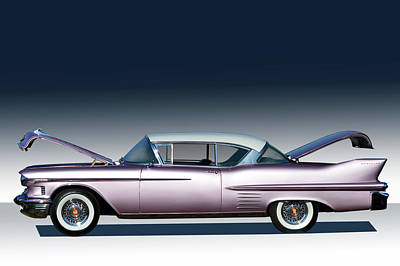 Photograph - 1958 Cadillac by Bill Dutting