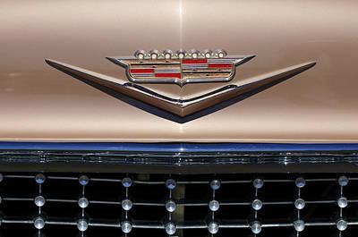 Hoodies Photograph - 1958 Cadillac Eldorado Barritz Emblem by Jill Reger
