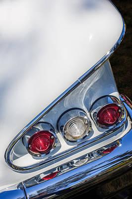 Photograph - 1958 Chevrolet Bel Air Convertible Tail Light -0278c by Jill Reger