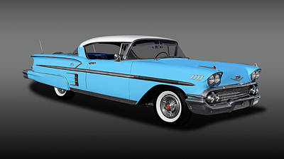 Photograph - 1958 Chevrolet Bel Air Impala 2 Door Hardtop  -  1958chevimpalahdtpfa170198 by Frank J Benz