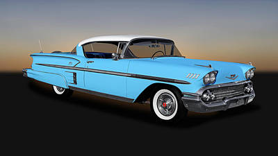 Photograph - 1958 Chevrolet Bel Air Impala 2 Door Hardtop   -   1958chevyimpala170198 by Frank J Benz