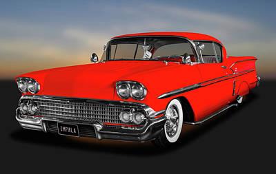 Photograph - 1958 Chevrolet Impala Hardtop  -  1958chevyimpala171878 by Frank J Benz