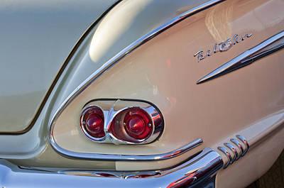 Tail Photograph - 1958 Chevrolet Belair Taillight by Jill Reger