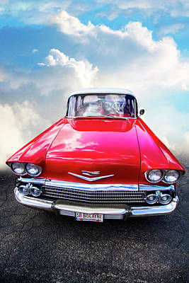 Photograph - 1958 Chevrolet Biscayne by Debra and Dave Vanderlaan