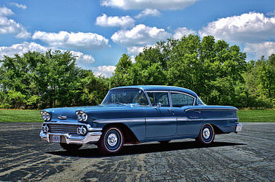 Photograph - 1958 Chevrolet Biscayne by TeeMack