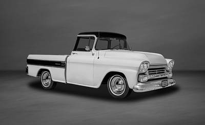 Photograph - 1958 Chevrolet Cameo Pickup Truck  -  58cameo55 by Frank J Benz