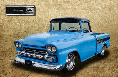 1958 Chevrolet Cameo Truck Art Print by Frank J Benz