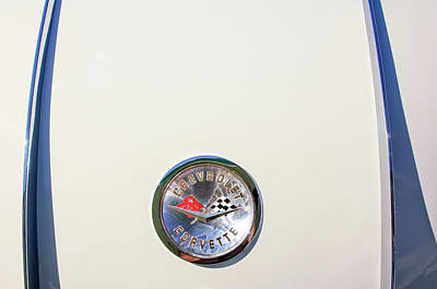Photograph - 1958 Chevrolet Corvette Emblem -0132c by Jill Reger