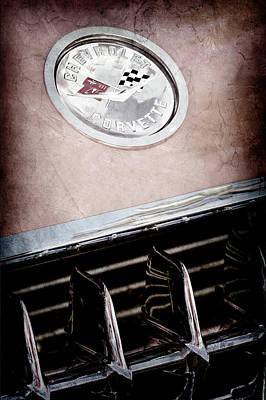 Photograph - 1958 Chevrolet Corvette Emblem -1202ac by Jill Reger