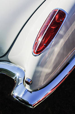 Photograph - 1958 Chevrolet Corvette Tail Light -0131c by Jill Reger