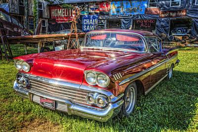 Shiney Photograph - 1958 Chevrolet by Debra and Dave Vanderlaan