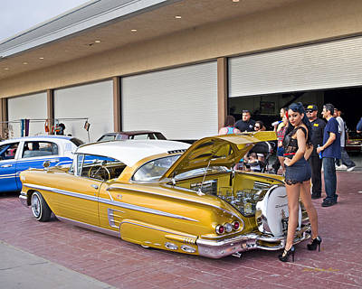 Photograph - 1958 Chevrolet Impala. A1 by Walter Herrit