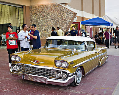 Photograph - 1958 Chevrolet Impala. A3 by Walter Herrit