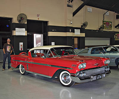 Photograph - 1958 Chevrolet Impala. B1 by Walter Herrit