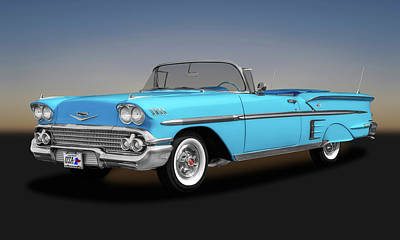 Photograph - 1958 Chevrolet Impala Convertible  -  1958chevroletimpalaconvert173578 by Frank J Benz