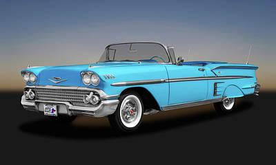Photograph - 1958 Chevrolet Impala Convertible  -  1958chevroletimpalaconvert173578 by Frank J Benz