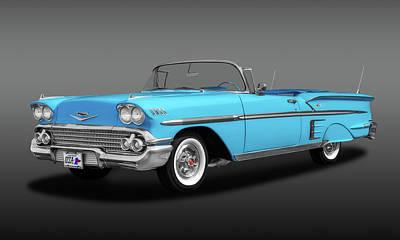 Photograph - 1958 Chevrolet Impala Convertible  -  1958chevroletimpalacvfa173578 by Frank J Benz