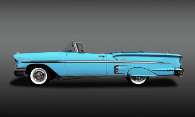 Photograph - 1958 Chevrolet Impala Convertible Profile  -  1958chevroletimpalacvfa173581 by Frank J Benz