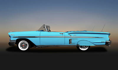Photograph - 1958 Chevrolet Impala Convertible Profile -  1958chevroletimpalaconvertible173581 by Frank J Benz