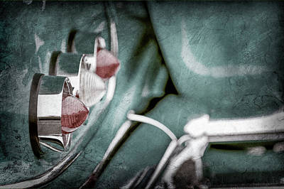 Art Print featuring the photograph 1958 Chevrolet Impala Taillight -0544ac by Jill Reger