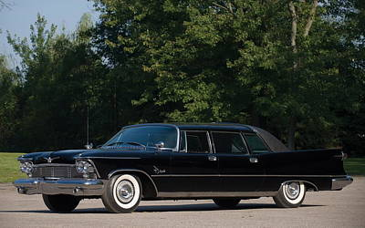 Transportation Digital Art - 1958 Chrysler Imperial Crown  by Maye Loeser