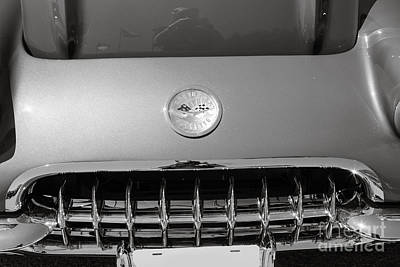 Photograph - 1958 Corvette By Chevrolet Front End And A Sepia Photograph 3485 by M K Miller