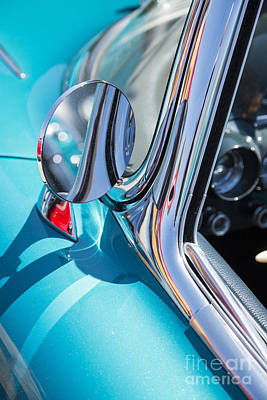 Photograph - 1958 Corvette By Chevrolet Outside Mirror In A Color Photograph  by M K Miller