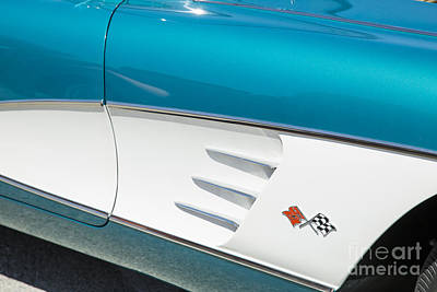 Photograph - 1958 Corvette By Chevrolet Side Panel In A Color Photograph 3488 by M K Miller