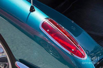 Photograph - 1958 Corvette By Chevrolet Tail Light In A Color Photograph 3490 by M K Miller