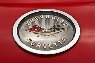 Photograph - 1958 Corvette Front Emblem by  Onyonet  Photo Studios