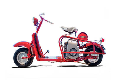 Photograph - 1958 Cushman Allstate Highlander Motorscooter by Gary Warnimont