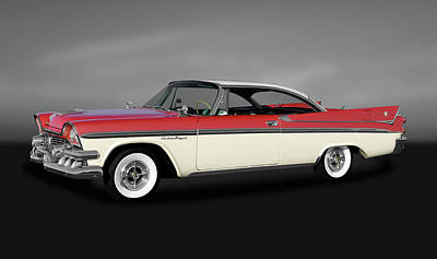 Photograph - 1958 Dodge Custom Royal Lancer Super D-500  -  1958dodgesuperd500gry170482 by Frank J Benz
