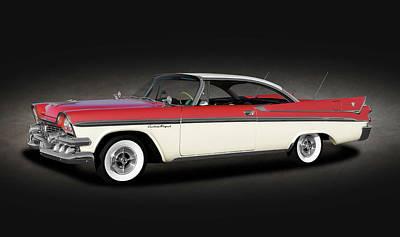 Photograph - 1958 Dodge Custom Royal Lancer Super D-500  -  1958dodgesuperd500spttext170482 by Frank J Benz