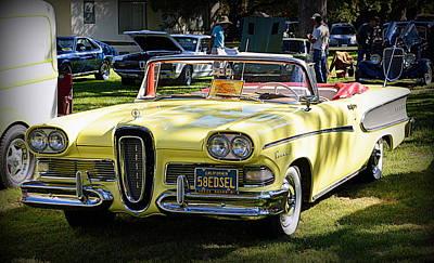 Photograph - 1958 Edsel by AJ Schibig