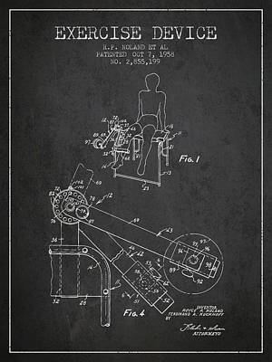 Weightlifting Wall Art - Digital Art - 1958 Exercise Device Patent Spbb11_cg by Aged Pixel