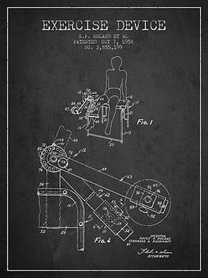 1958 Exercise Device Patent Spbb11_cg Art Print