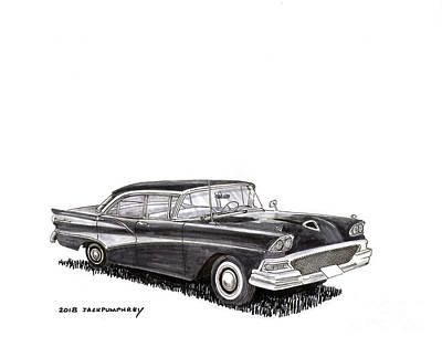 Painting - 1958 Ford Fairlane Sedan by Jack Pumphrey
